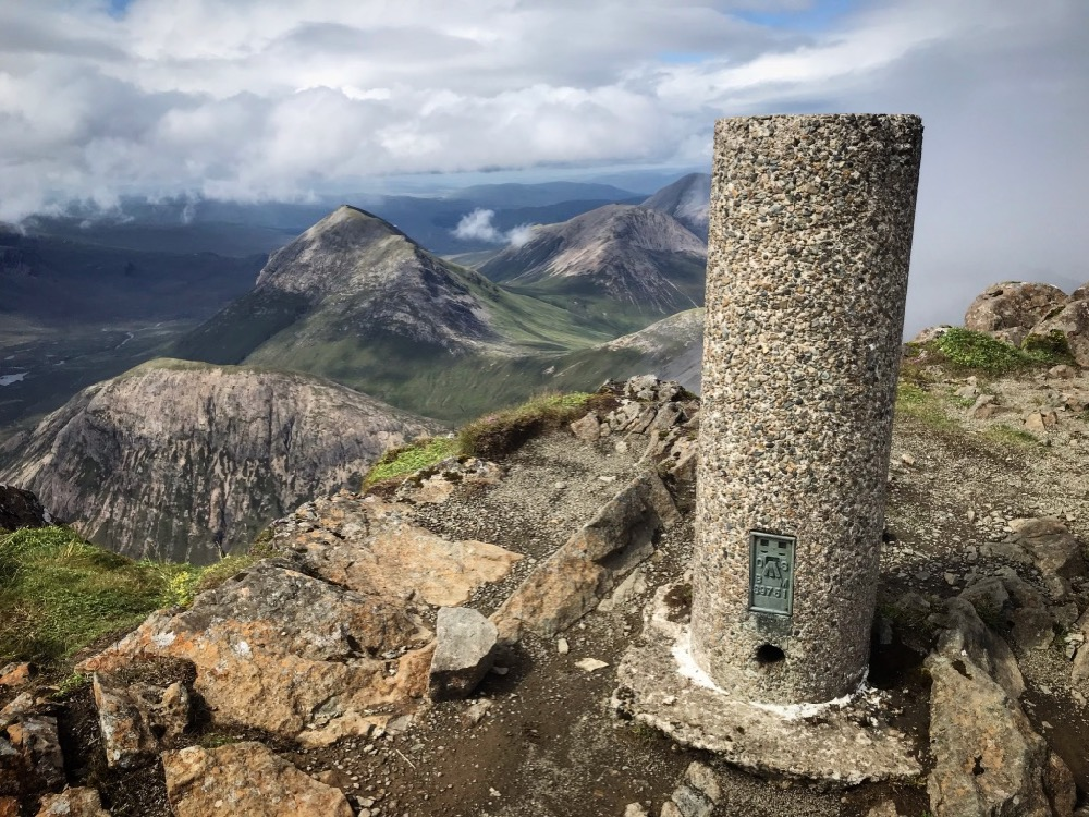Skye Trail - Trig point at Bla Bheinn summit (928m)