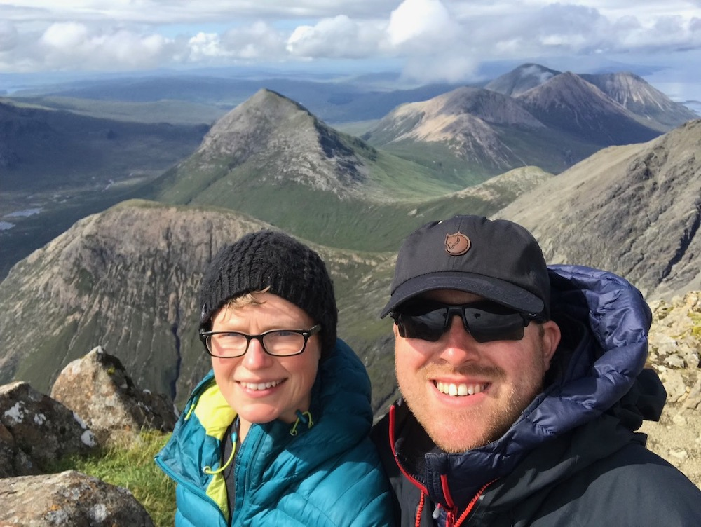 Andrew and I at the top of Bla Bheinn, literally and figuratively the high moment of the trip!