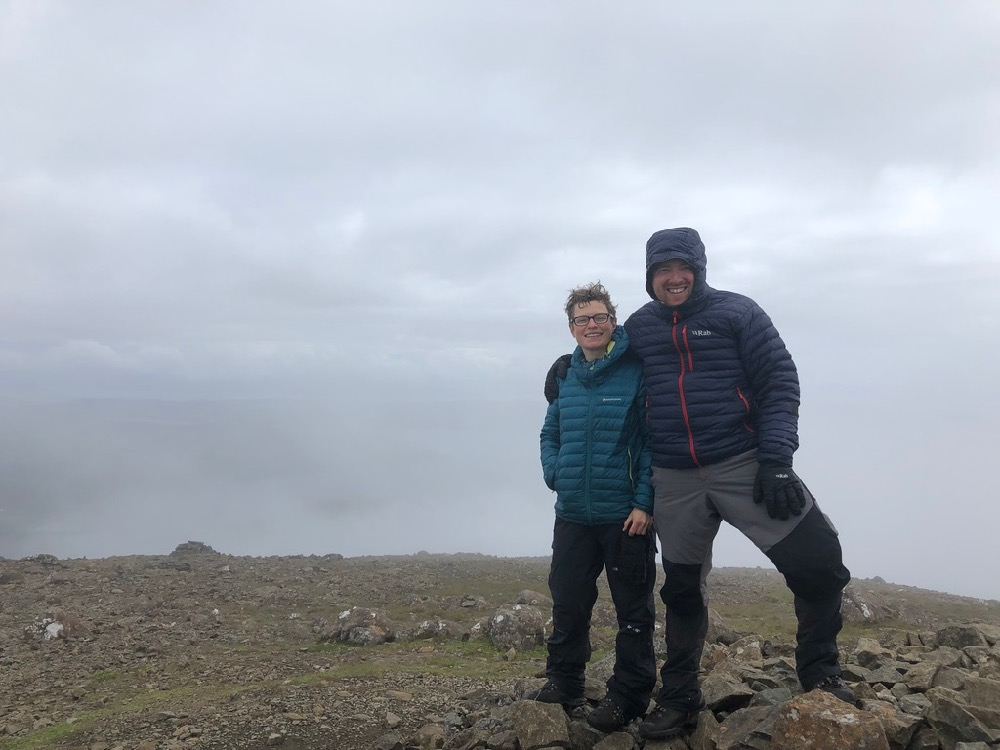 Andrew and Monica at Bla Bheinn summit