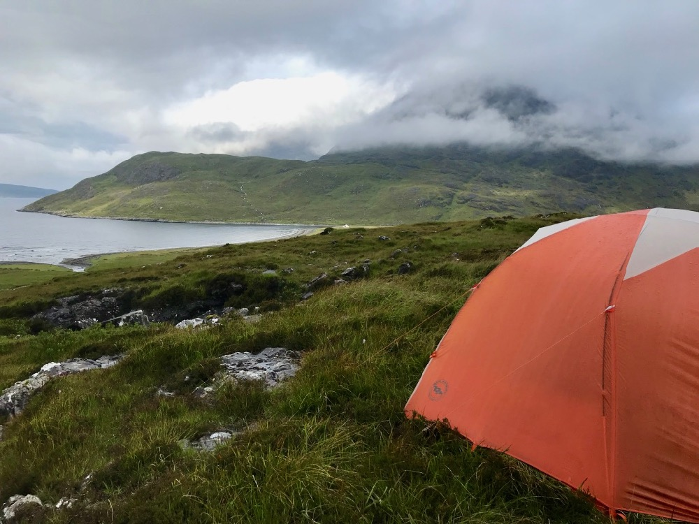 Skye Trail - Wild camping in Camasunary Bay