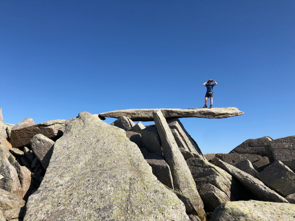 The Cantilever Stone, Glyders, Snowdonia