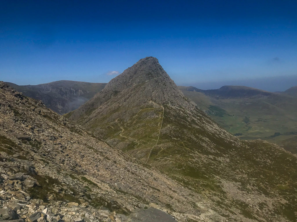 View of Tryfan from the other side of Bristly Ridge