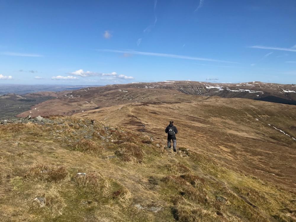 Black Mountains, Brecon Beacons, Panorama