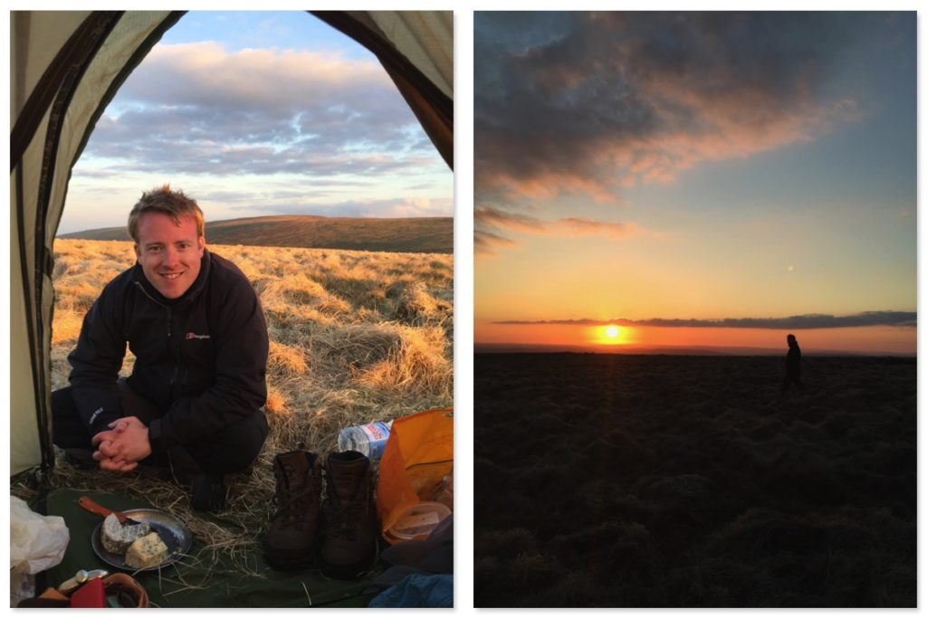 Black Mountains Wild Camping, Rhos Dhirion, Sunset