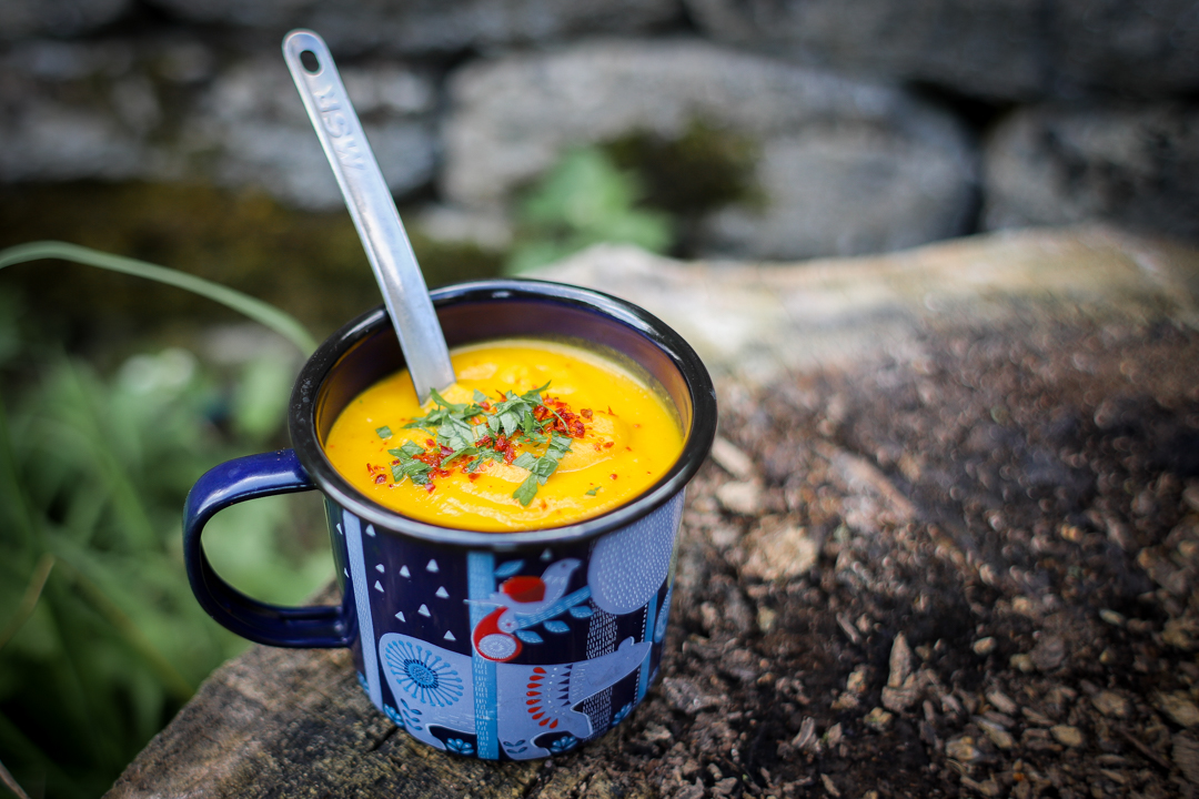 Dehydrated red lentil, carrot, and cumin soup backpacking recipe