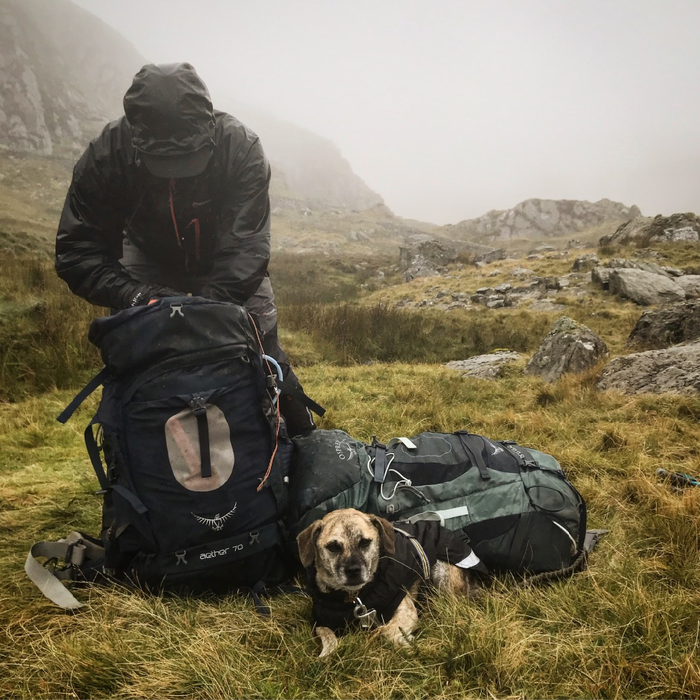 Carneddau, Snowdonia - Packing up after our second night's wild camp