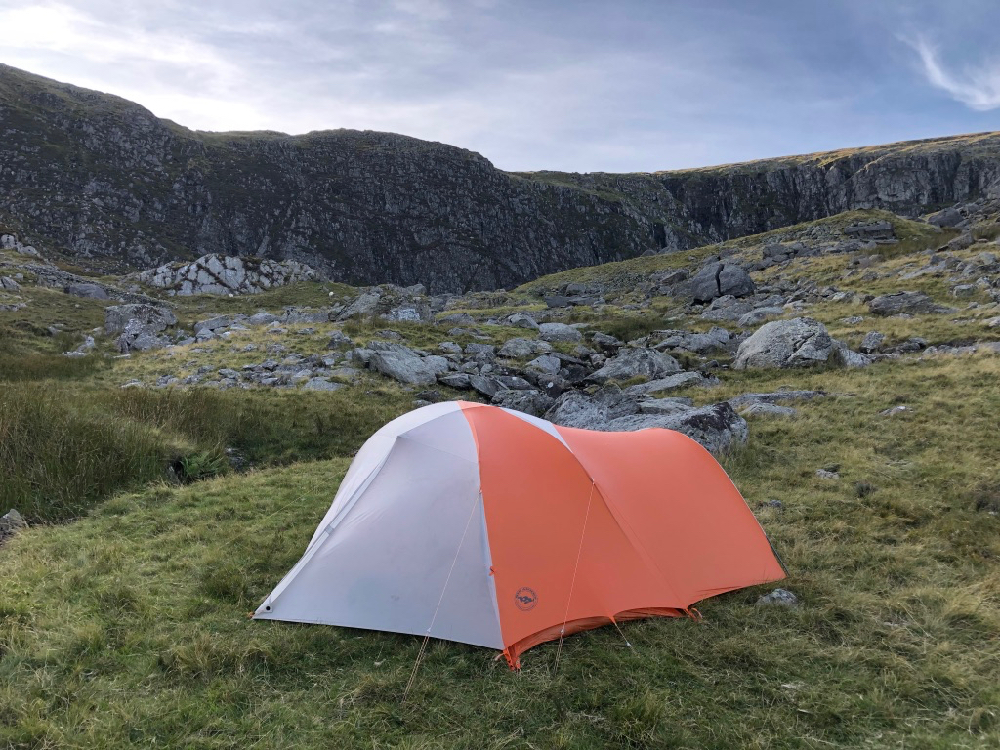 Wild camping spot on Afon Dulyn near the both