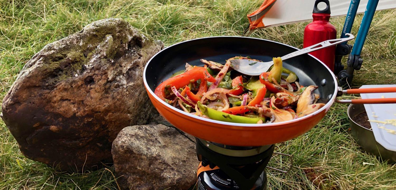 Portobello Mushroom Campstove Fajitas