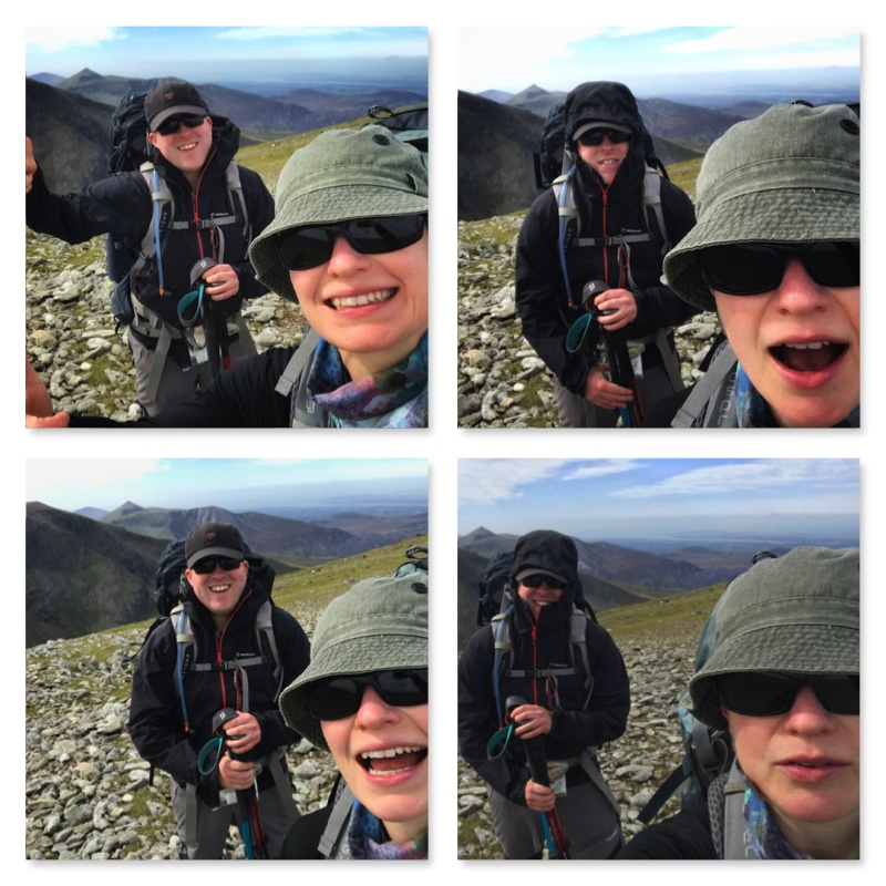 Summit Selfies on Carnedd Llewelyn