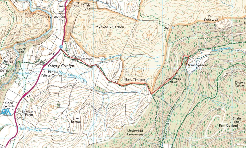 Nant Syddion Bothy Map
