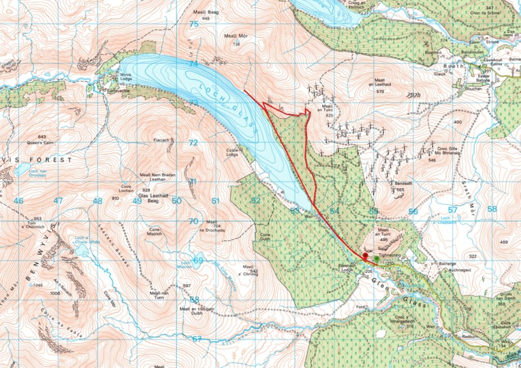 Loch Glass Walk Map