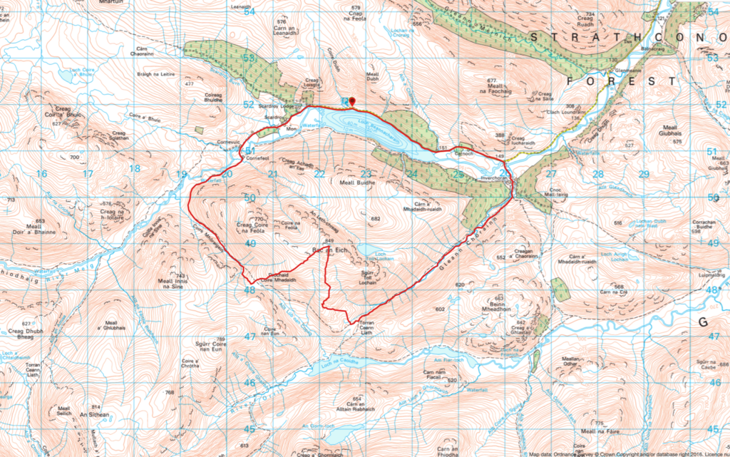 Bac an Eich Route Map
