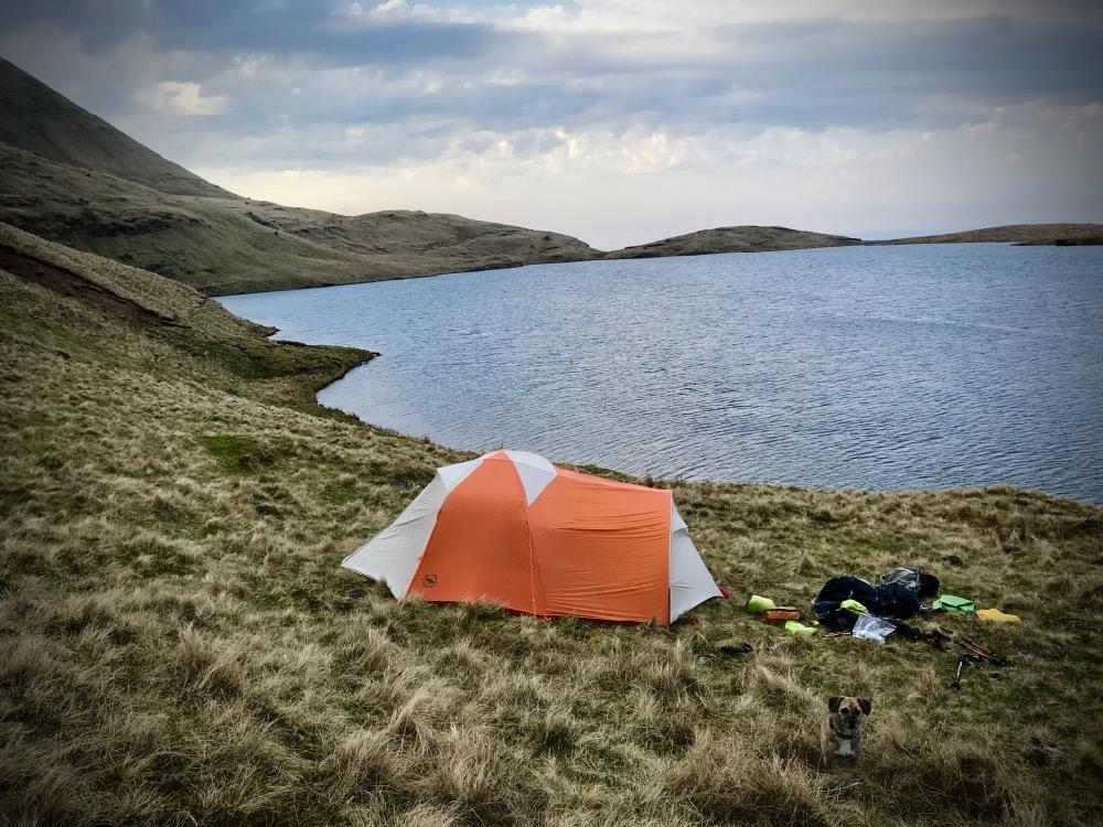 Wild camping at Llyn y Fan Fawr, Black Mountain, Brecon Beacons