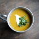 Dehydrated butternut squash soup with red lentils and ras el hanout