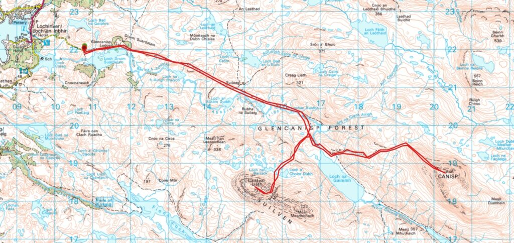 Suilven Wild Camping Map