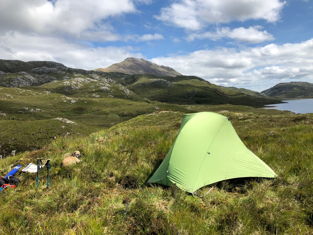 Wild camping view of Canisp.