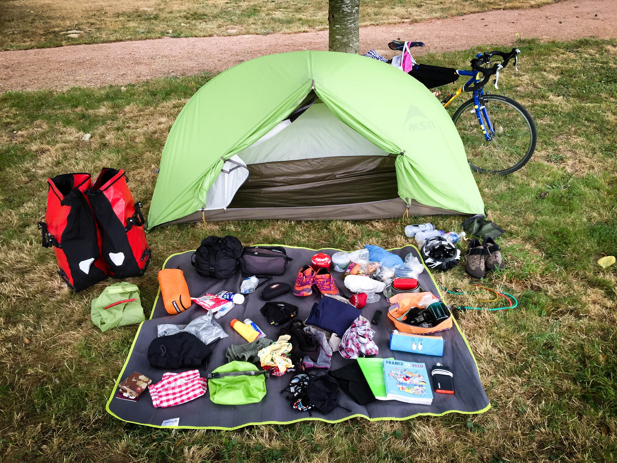 Packing checklist for a bicycle tour