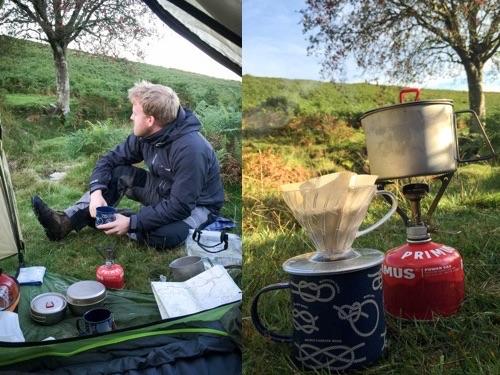 Wild camping V60 coffee