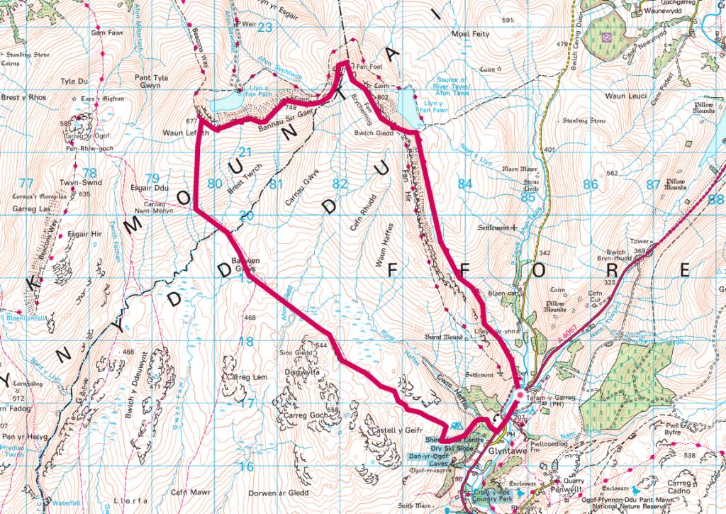 Black Mountain Wild Camp Map