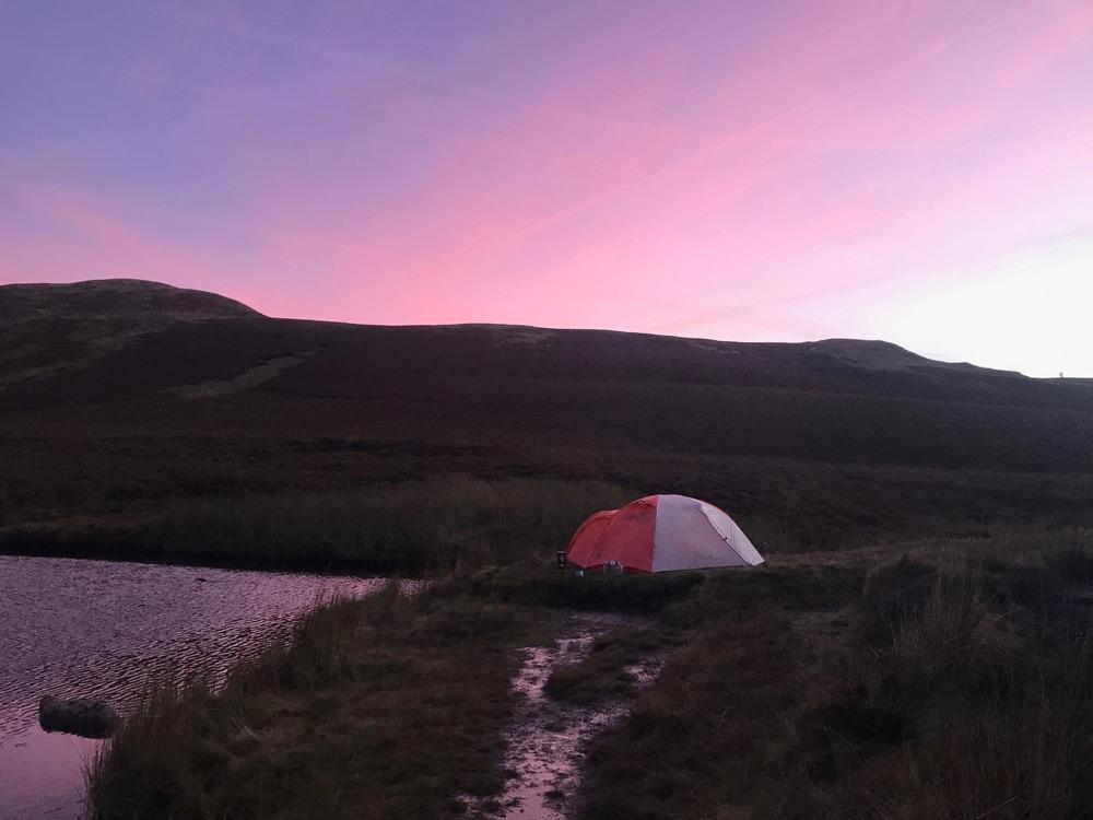 Sunset in the Berwyn Mountains