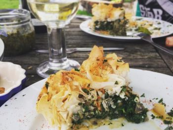 Nettle spanakopita recipe