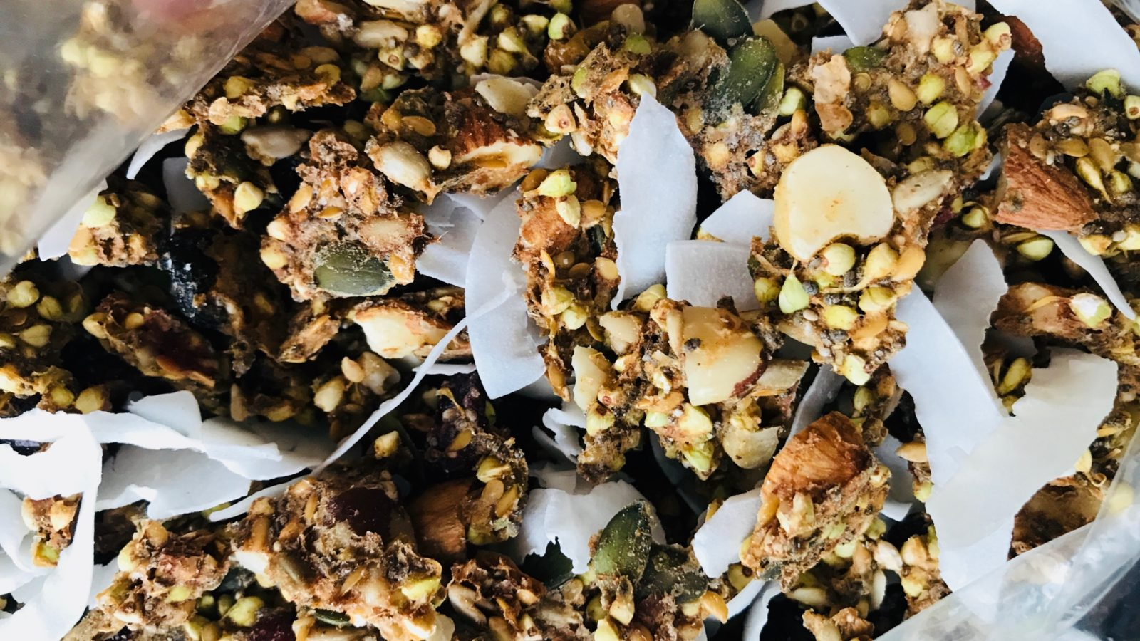 Raw Sprouted Buckwheat Granola made in the dehydrator